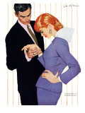 I Love You  Mama Girl - Saturday Evening Post &quot;Men at the Top&quot;  March 31  1956 pg25