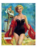 The Lifeguard &amp; The Lady  - Saturday Evening Post &quot;Leading Ladies&quot;  August 27  1955 pg24