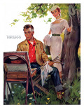 """Half Hearted Wife  - Saturday Evening Post """"Leading Ladies""""  May 22  1954 pg43"""
