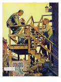 "The Disappearance of Dolan  Pt I  C - Saturday Evening Post ""Men at the Top""  April 12  1954 pg21"