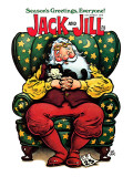 Sleeping Santa and Kitten - Jack and Jill  December 1979