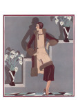 Art Deco Female and Flowers