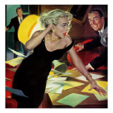"""The Cold-War Blonde - Saturday Evening Post """"Men at the Top""""  September 26  1959 pg32"""