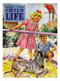 Baby Zebra - Child Life  May 1946
