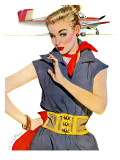"The Girl Who Stole Airplanes  - Saturday Evening Post ""Leading Ladies""  December 6  1952 pg24"