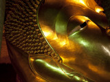 Bangkok  Thailand; the Reclining Buddha in Wat Pho