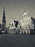 Latvia  Riga  Old Riga  Blackheads' House  B;1344  Exterior and St; Peter's Lutheran Church