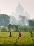 Women Carrying Water Pots  Taj Mahal  Agra  India