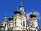 Russia  St Petersburg; Cupolas of the Vladimirsky Church