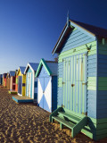 Australia  Victoria  Melbourne; Colourful Beach Huts at Brighton Beach
