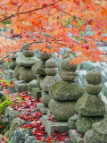 Asia  Japan; Kyoto  Sagano  Arashiyama  Adashino Nenbutsu Dera Temple  Stone Lanterns