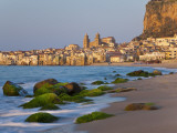 Beach at Sunset  Cefalu  North Coast  Sicily