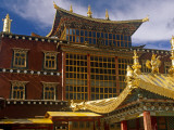 China  Zhongdian; the Dukhang  Is One of Songzhanling Monasteries Most Prominent Buildings