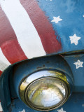 A Truck Painted with the Us Flag on a Roadside in New Hampshire  Usa