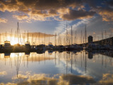 Australia  Tasmania  Hobart; Sunrise over Sandy Bay Marina