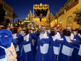 Religious Float During Semana Santa  (Holy Week) Celebrations  Malaga  Andalucia  Spain