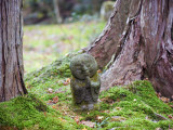 Asia  Japan; Kyoto  Sanzen in Temple (986)  Stone Statue of a Monk Praying