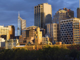Australia  Victoria  Melbourne; City Skyline at Dawn