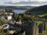 Uk  North Wales; Conwy; View of the Town and Castle with the Conwy River Behind