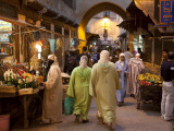 Street Life on Talaa Kbira in the Old Medina of Fes  Morocco