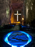 Colombia  Zipaquira  Cudinamarca Province  Salt Cathedral  Main Altar with Cross