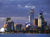 Australia  Western Australia  Perth; the Swan River and City Skyline at Dusk