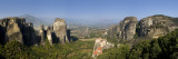 Greece  Thessaly  Meteora  Panoramic View of Meteora and Holy Monastery of Rousanou
