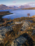 Ben Alligin and Liathach Seen across Loch Torridon  Wester Ross  Scotland
