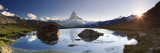 Switzerland  Valais  Zermatt  Lake Stelli and Matterhorn (Cervin) Peak