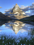 Switzerland  Valais  Zermatt  Matterhorn (Cervin) Peak and Riffel Lake