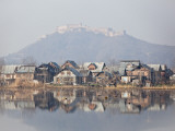 The Fort Looks over Dal Lake at Srinagar  Kashmir  India
