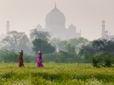 Women Carrying Water Pots  Taj Mahal  Agra  India