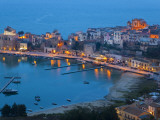 View over Harbour at Dusk  Castellammare Del Golfo  Sicily  Italy
