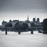 Pont Des Arts  Notre Dame Cathedral and River Seine  Paris  France