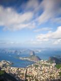 Brazil  Rio De Janeiro  Cosme Velho  Sugar Loaf Mountain  Botafogo Bay and Copacabana