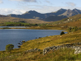 Uk  North Wales  Snowdonia; the Snowdon Horseshoe Rises Above Llyn Mymbyr