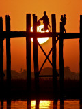 Myanmar  Burma  Amarapura  Taungthaman Lake  U Bein's Bridge