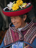 Peru  an Old Woman in Traditional Indian Costume