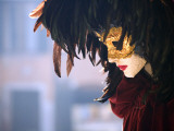 Italy  Veneto  Venice; a Venetian Mask on a Mannequin