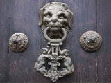 Peru; a Knocker Decorates the Wooden Doors of Lima Cathedral;