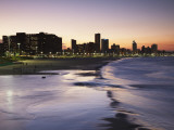 View of City Skyline and Beachfront at Sunset  Durban  Kwazulu-Natal  South Africa