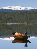 Traditional Fishing Boat on Majavatnet Lake  Nordland  Norway