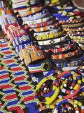 Colourful Traditional African Souvenirs on Beachfront  Durban  Kwazulu-Natal  South Africa