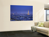 Eiffel Tower and Skyline of Paris  France