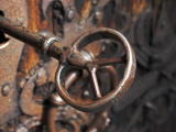 Sweden  Island of Gotland; a Antique Key and Lock Still in Use on the Medieval Church Door