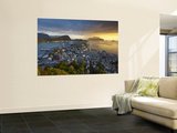 Elevated View over Alesund at Sunset  Sunnmore  More Og Romsdal  Norway
