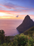 Caribbean  St Lucia  Petit Piton and Anse Des Pitons Beach