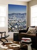 City Skyline of Kowloon and Hong Kong Island from Lion Rock  Hong Kong  China