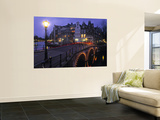Keizersgracht Canal at Night  Amsterdam  Holland