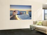 Greece  Cyclades  Santorini  Oia Town and Santorini Caldera
